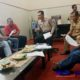 Suasana pertemuan DPP GAIB dengan Plt Kepala Bakesbangpol Sampang Anang Djonaedi di Kantor Bakesbangpol Sampang.(zyn)