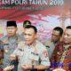 Kepala Barhakam Polri Komjen Pol Firli saat jumpa pers usai pelaksanaan bakti sosial dan kesehatan di GOR Wijaya Kusuma. (zyn)