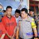 Kapolres Sampang AKBP Didit BWS saat press release pengungkapan jaringan narkoba dengan barang bukti Sabu seberat 100 gram lebih. (zyn)