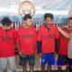 Kapolres Sampang AKBP Didit BWS saat menunjukkan para pelaku hasil aman Semeru 2019 di Halaman Halaman Mapolres Sampang. (ist)